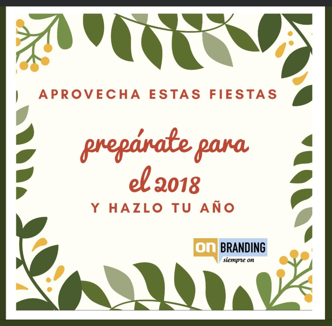 Felices Fiestas y prepárate para el 2018