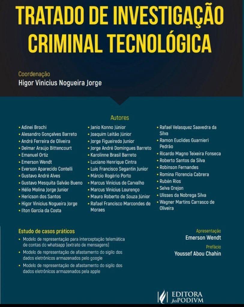 TRATADO DE INVESTIGAÇÃO CRIMINAL TECNOLÓGICA
