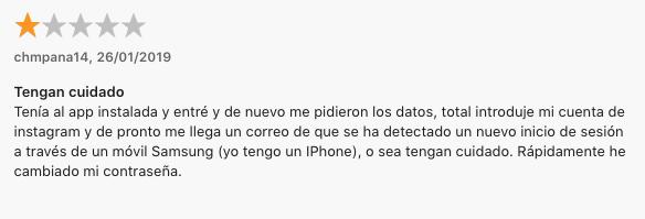 """Phishing o hackeo a través de la App """"Reports+ para Instagram"""""""