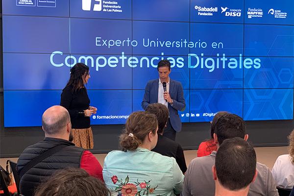 Selva Orejón en el evento #FULP de la Universidad de Las Palmas.